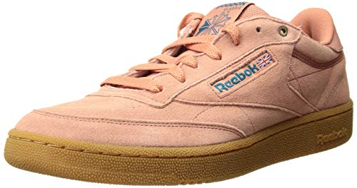 Reebok Herren Club C 85 Turnschuh, Dirty Apricot/Teal/Gum, 45 EU
