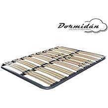 Dormidán - Somier Somieres multiláminas con regulación lumar, Tubo de Acero 40x30mm, Medida 120x190cm
