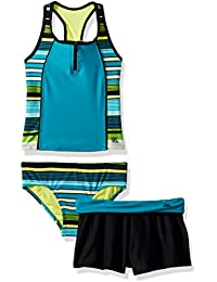 b8ab2525f6 ZeroXposur Big Girls' Two Piece Tankini Swimsuit Set