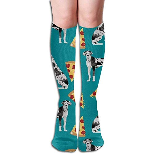 Maternity Kostüm Cute - Gped Kniestrümpfe,Socken Great Dane Pizza Cute Dogs Compression Socks,Knee High Socks,Funny Socks for Women Men - Best Medical,Sports,Running,Nurses,Maternity, Pregnancy,Travel & Flight Socks
