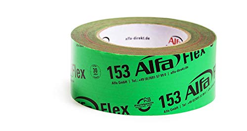 2x Alfa Flex Folienklebeband für Dampfbremse, aggressiv klebendes Dampfsperrklebeband 50 mm x 25 m, entspricht ZVDH & EnEV