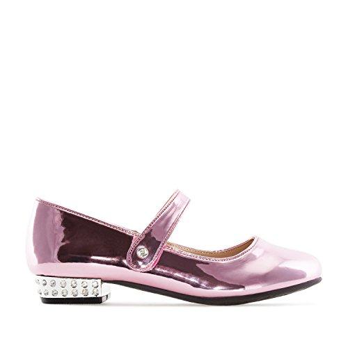 Andres Machado Rosaner Mary Jane Schuh für Kinder aus rosanem Lack Gr. 30