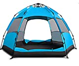 KOKR Automatisches Doppeltes Regendichtes Sonnenschutzes des Zelt-CampFeuer Campingzelt für 3-5Personen | Großes Familienzelt | Gruppenzelt | Campingzelt | So macht Camping Spaß!