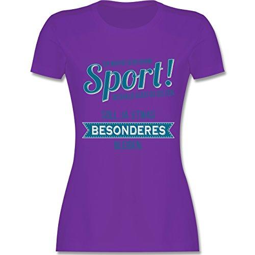 Shirtracer Sonstige Sportarten - Ich Mache Sehr Gerne Sport - Damen T-Shirt Rundhals Lila