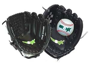 Bronx Gants + balle pour receveur de baseball Adulte Noir/blanc 28 cm
