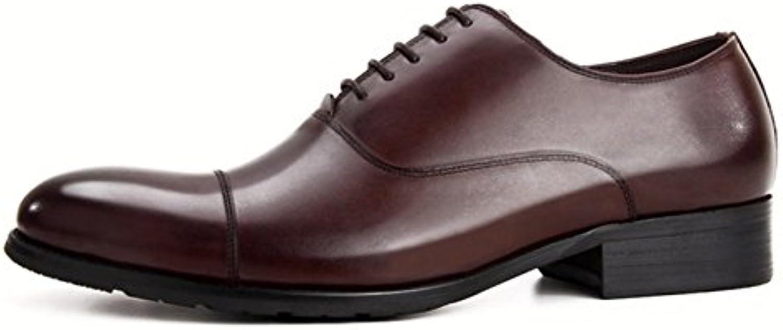 LYZGF Zapatos De Cuero De Encaje Gentleman para Hombre Fashion Casual Fashion para Jóvenes  -