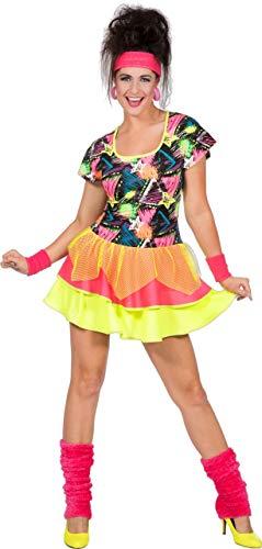 Kostüm Workout 80er - Wilbers & Wilbers 80er Jahre Aerobic Kostüm Discokostüm Disco Neon Popstar