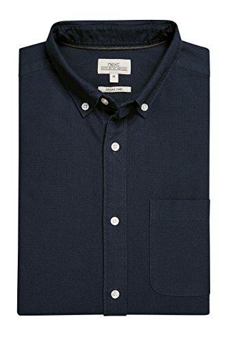 next Uomo Camicia Oxford A Maniche Lunghe Blu Navy