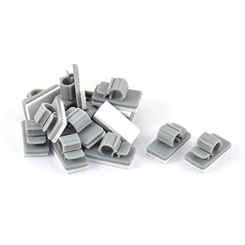 sourcingmapr-auto-adhesif-plastique-cordon-porte-cables-organisateur-agrafes-fixateur-15pcs-gris
