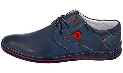 Polbut , Chaussures à lacets homme Bleu Marine