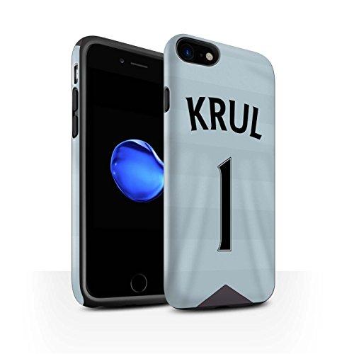 Officiel Newcastle United FC Coque / Matte Robuste Antichoc Etui pour Apple iPhone 7 / Saivet Design / NUFC Maillot Extérieur 15/16 Collection Krul