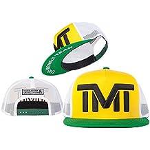 Amaning-TY Unisex Adjustable Fashion Leisure Baseball Hat TMT Courtside Snapback Dual Colour Cap