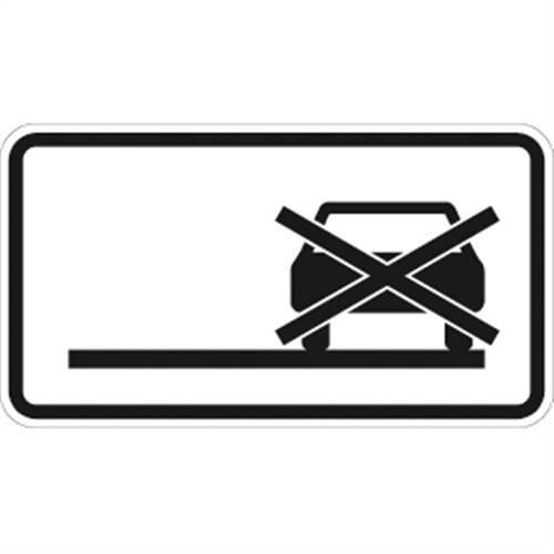 Verkehrszeichen VZ1060-31, Haltverbot auch auf dem Seitenstreifen, Alu, RA1, 23,1x42cm Verkehrsschild