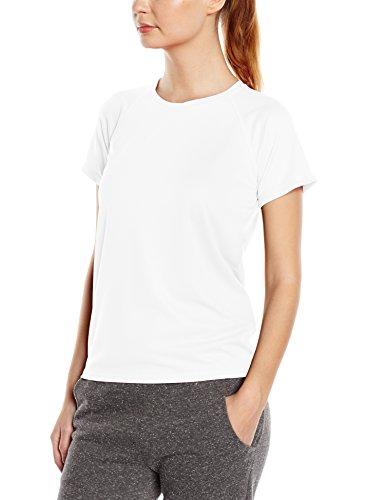Stedman Apparel Active 140 Raglan/ST8500, T-Shirt Sportiva Donna Bianco