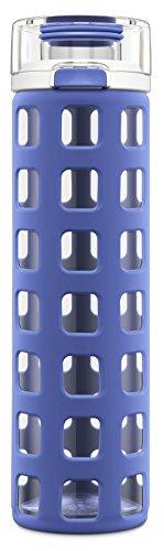 Ello (Lombardei Syndicate BPA frei Glas-Flasche mit Flip Deckel, blau Tide, 20oz, Denim