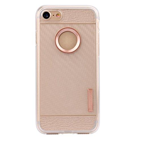 Cover per iPhone 7, Tpulling Custodia per iPhone 7 Case Cover Nuova copertura molle sottile della cassa del gel del silicone di protezione per IPhone 7 4.7 pollici (Navy) Rose Gold