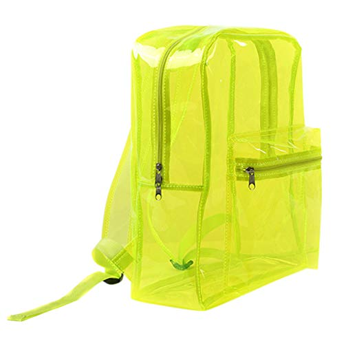en Damen Mode Frauen transparent gelee reißverschluss Platz umhängetasche umhängetasche Grün ()