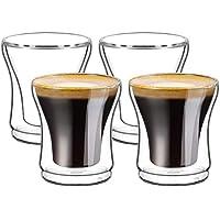 Ecooe - Juego de 4 Vasos térmicos para Espresso (120 ML)