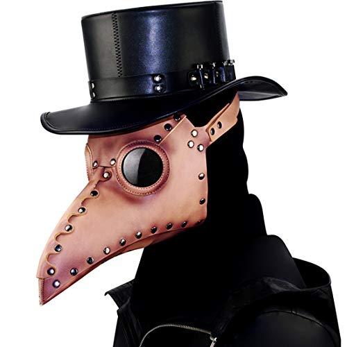 GRYY Steampunk Pest Schnabel Maske Halloween Requisiten Requisiten Festival Party Dress Up,Black-OneSize