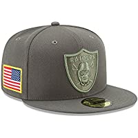 New Era NFL OAKLAND RAIDERS Salute to Service 2017 Sideline 59FIFTY Game Cap 6780885628a1
