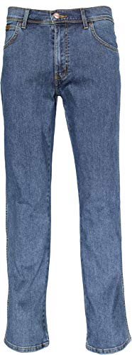 Wrangler Herren Texas Regular Fit Stretch Jeans, Blau, 40W x 34L -