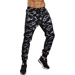 ♚ Pantalones de Camuflaje de los Hombres, Guardapolvos de Bolsillo Pantalones de chándal Casuales de Trabajo Informal de Bolsillo Deportivo Otoño Absolute