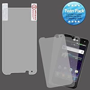 MYBAT LGMS840LCDSCPRTW LCD Screen Protector for LG Connect 4G MS840 - Retail Packaging - Twin Pack