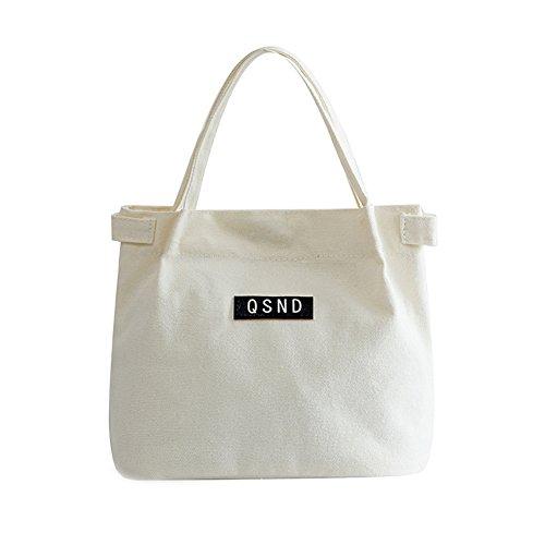 Preisvergleich Produktbild Zedo Wiederverwendbare Mittagessen Taschen Portable Lunch Picknick Leinwand Box für Frauen Waterproof Canvas Mittagessen Taschen Tragetasche