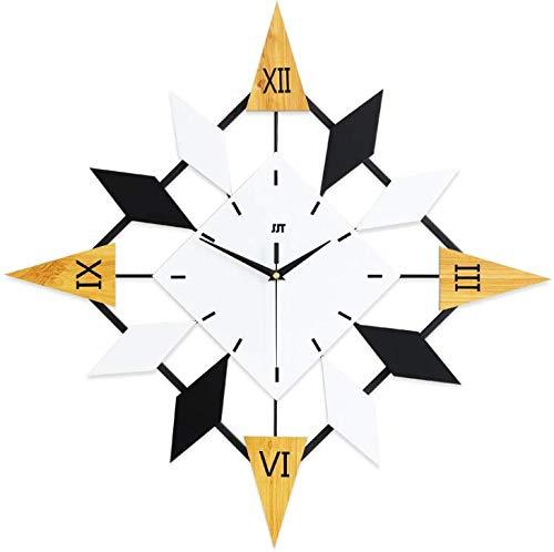 DOSNVG Rustikale Wanduhr, nordische Uhr Wanduhr Wohnzimmer Mode kreative Uhr Dekoration elektronische Quarzuhr