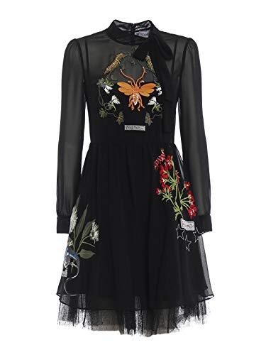 Red Valentino Damen Qr3va09r3ud0no Schwarz Polyester Kleid