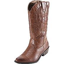 SimpleC para Mujer Mitad Pantorrilla Bloque Talón Botas de Vaquero