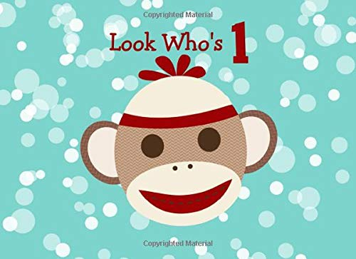 Sock Monkey First Birthday Guest Book (Sock Monkey Party Supplies)