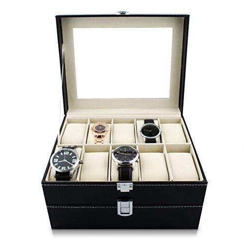 Custodia per 20 orologi da polso - nero 26 x 24 x 15 cm - custodia conservazione e presentazione orologi - grinscard