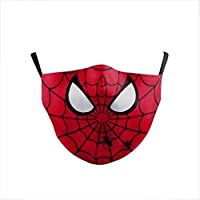 Marvel Kids Face Mask With Carbon Filter - Ultra-Comfortable, Reusable, Portable, Fold-able Lightweight (SpiderMan)