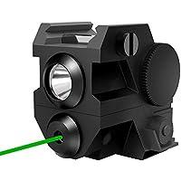 Pistola Táctica con Láser Verde y Luz Led de Bolsillo, Dos Combinados en Uno, los Accesorios son Armas de Mano/Fusiles/Armas de Caza con Soporte de 20 mm
