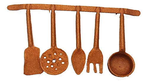 Piccoli monelli presepe accessori brocca acqua mestoli accessori cucina in plastica per decorazioni natalizie e allestimenti cm 16 x 8