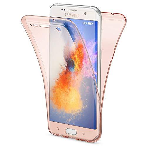 8effbb6906b NALIA Funda 360 Grados Compatible con Samsung Galaxy S7 Edge, Delantera  Trasera Protectora Movil Silicona