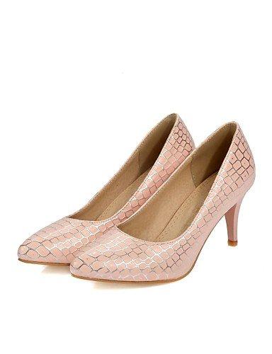 GS~LY Da donna-Tacchi-Ufficio e lavoro / Casual-Tacchi / A punta-A cono-PU (Poliuretano)-Verde / Rosa / Bianco pink-us9.5-10 / eu41 / uk7.5-8 / cn42