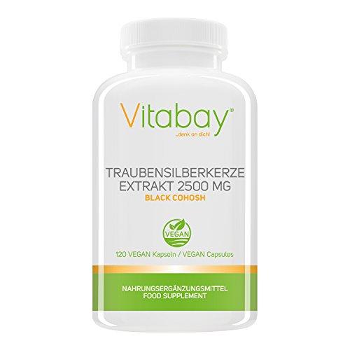 Traubensilberkerze Extrakt 2500 mg - 120 vegane Kapseln - Black Cohosh hochdosiert