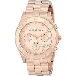 Marc Jacobs MBM3102 - Reloj para mujer con correa de acero, color dorado/gris