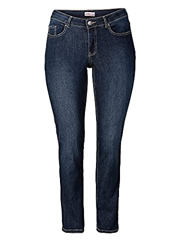 sheego Denim Damen Jeans Übergröße dunkelblau 40/L