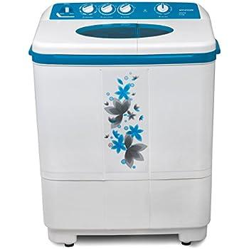 Hyundai 7.2 kg Semi-Automatic Top Loading Washing Machine (HYS72F, Luminous Blue)