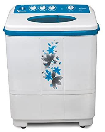 Hyundai 7.2 kg Semi-Automatic Top Loading Washing Machine (HYS72F, Luminous Blue)