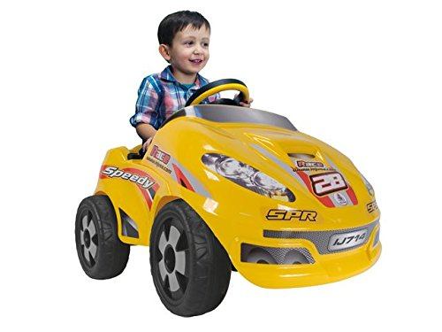 INJUSA - Coche Speedy Car 6 V, Color Amarillo (714)