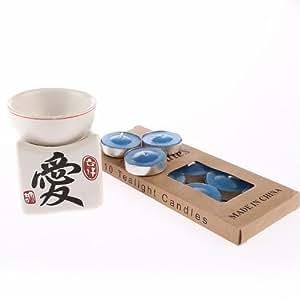 Brule Parfum - Décoration Asiatique - Motif Amour - 10 bougies offertes