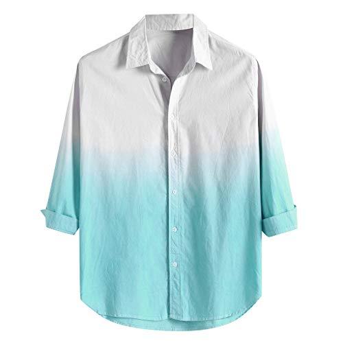 Mens Hawaiihemd 3D Druck BlumenHemd Funky Freizeit Kurzarm Hemden Umlegekragen Three Quarter Sleeve Freizeithemden Top -