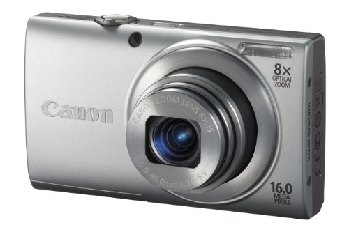 Canon PowerShot A4000 IS Digitalkamera (16 MP, 8-fach opt. Zoom, 7,6cm (3 Zoll) Display, bildstabilisiert) silber 16 Mp A4000 Is Kamera