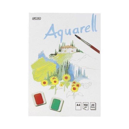 2 X Herlitz Aquarellblock 00495457 A4 20 Bl.