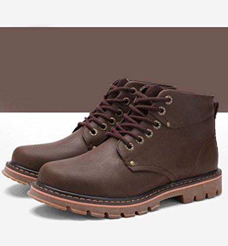 GRRONG Bottes Dhiver Pour Hommes Bottes Bottes Bottes Désert Confortables Bottes De Mode brown