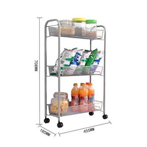 Mobile-Rack/Speicher/Rädern Storage rack/sortieren/Küche Gemüse/Bad-G - Glas Metall Mobile Speicher